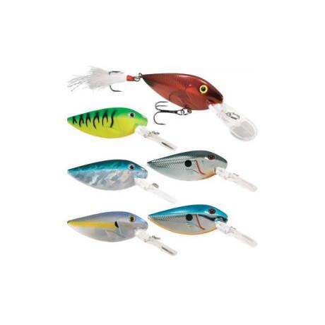Cabela's Fisherman Series 6-Piece Deep-Diving Rattling Flat Shad Assortment