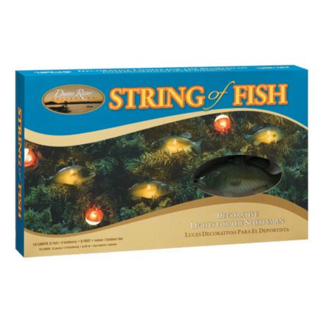Sportsman 39 s string of fish christmas lights cabela 39 s canada for Fish string lights