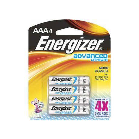 Energizer Advanced Lithium Batteries - AAA 4 Pack