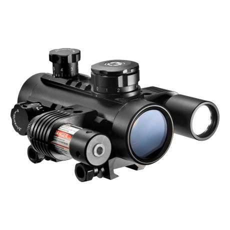 Barska 1x30mm Sight Laser Scope w/ Flashlight