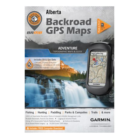 Backroad Canadian GPS Micro SD Version Maps - Alberta