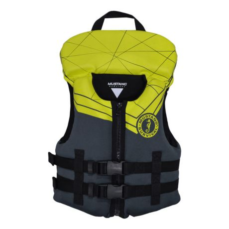 Mustang Survival Lil' Sport PFD - Youth/Grey & Yellow