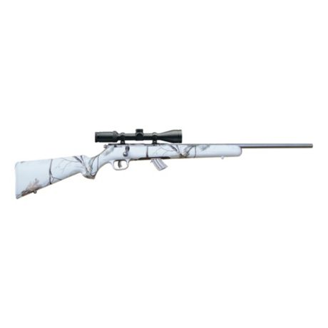 Savage Rimfire Snow Camo Bolt-Action Rifle - .22 LR