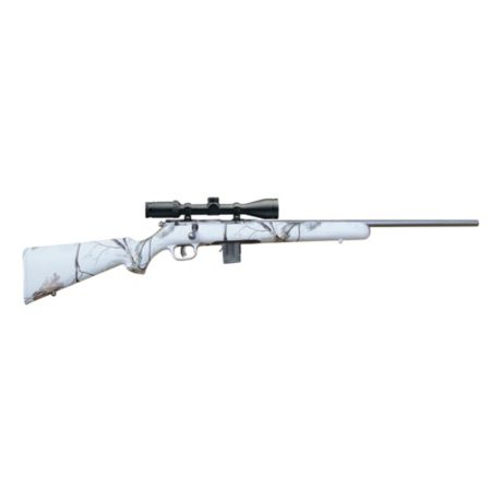 Savage Rimfire Snow Camo Bolt-Action Rifle - .22 WMR/.17 HMR