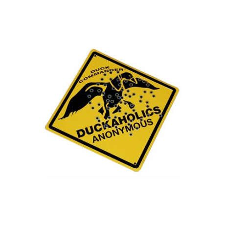 Duckaholic Metal Sign