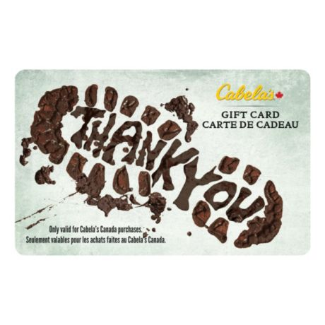Cabela's Canada Gift Card - Thank You