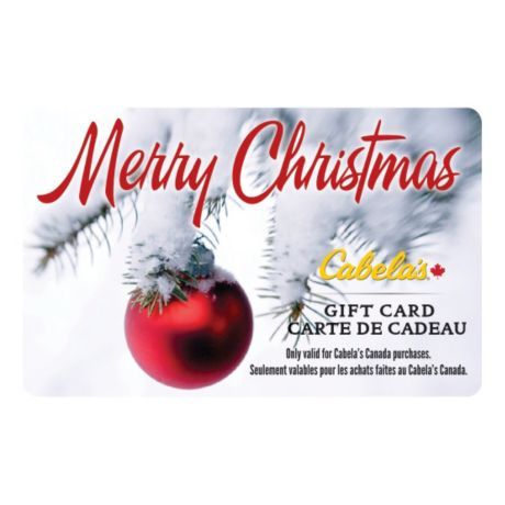 Cabela's Canada Gift Card - Christmas Ornament