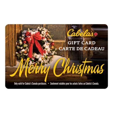 Cabela's Canada Gift Card - Christmas Wreath