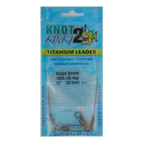 Knot 2 Kinky Single Strand Leaders Single Pack