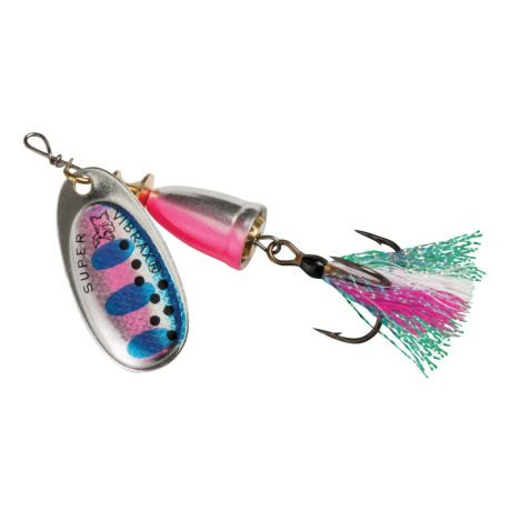 Blue Fox Classic Vibrax Foxtail Spinners - Rainbow Trout