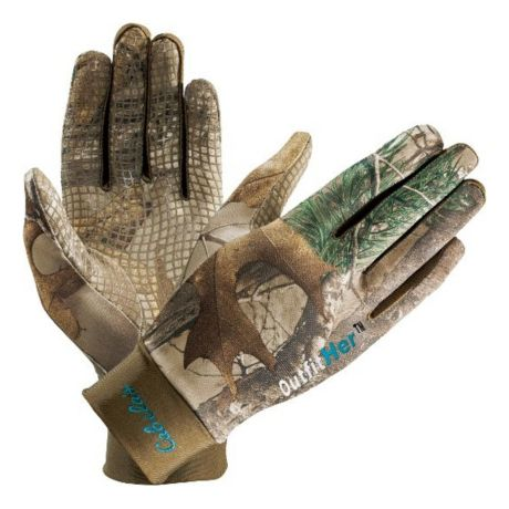 Cabela's OutfitHER Camoskinz Unlined Gloves - Realtree XTRA