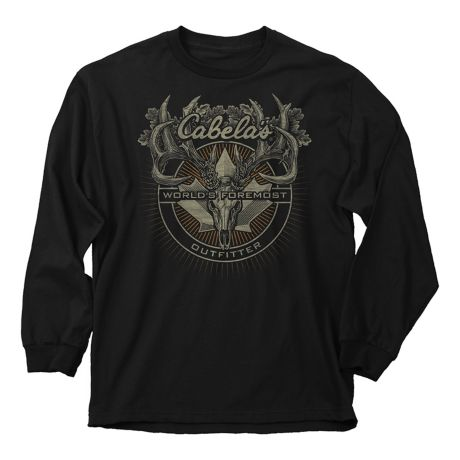 Buck Wear Cabela's Canadian Badge Long Sleeve Tee Shirt