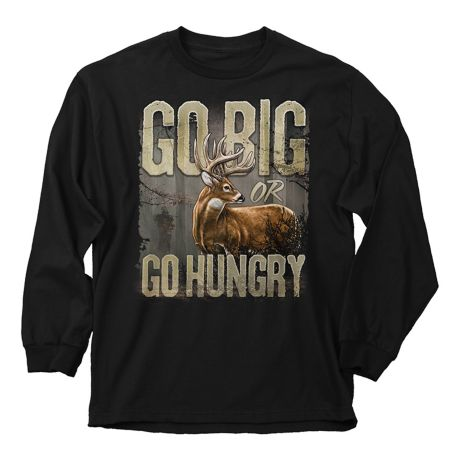 Buck Wear Go Big Long Sleeve Tee Shirt