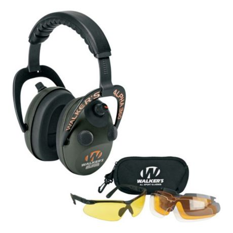Walker's Alpha 360 Electronic Hearing Muff/Glasses Combo