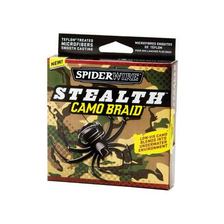 Spiderwire stealth camo braid fishing line cabela 39 s canada for Cabela s fishing line