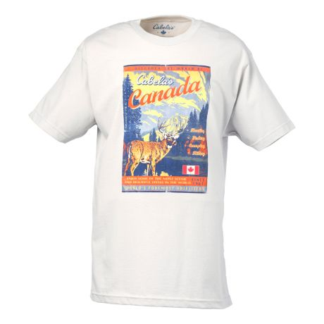 Cabela 39 s canada mag deer tee shirt cabela 39 s canada for Cabela s fishing shirts