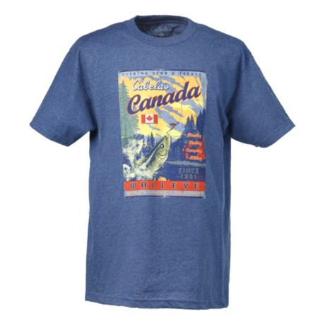 Cabela 39 s canada mag walleye tee shirt cabela 39 s canada for Cabela s fishing shirts