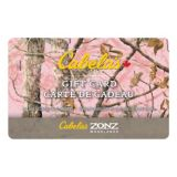 Picture of Cabela's Canada Gift Card - Zonz Woodlands Pink Camo