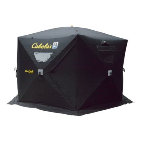 Cabela 39 s ice team 1660 mag thermal cap ice shelter for Ice fishing shelters for sale