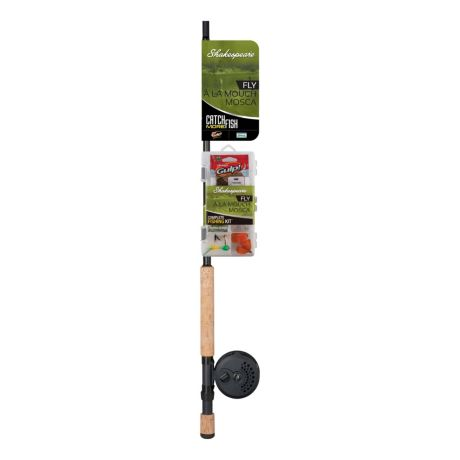 Shakespeare catch more fish fly fishing combo cabela 39 s for Kids fishing poles walmart