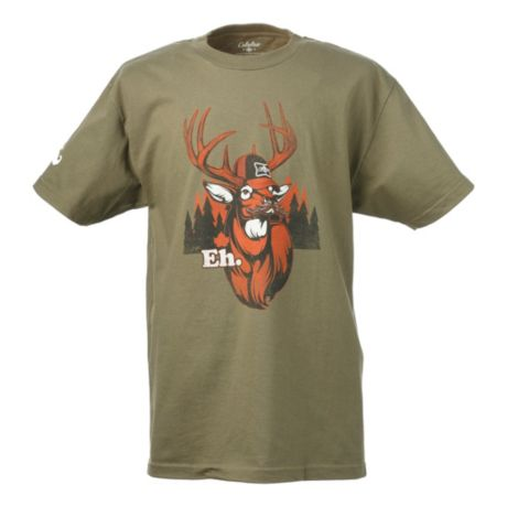 Cabela 39 s moustache eh deer tee shirt cabela 39 s canada for Cabela s fishing shirts