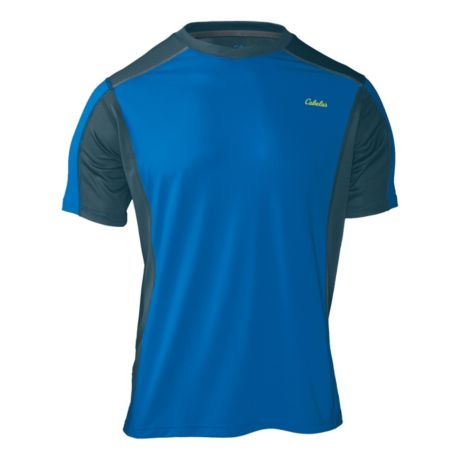 Cabela 39 s xpg short sleeve crew t shirt with 4most wick for Cabela s columbia shirts