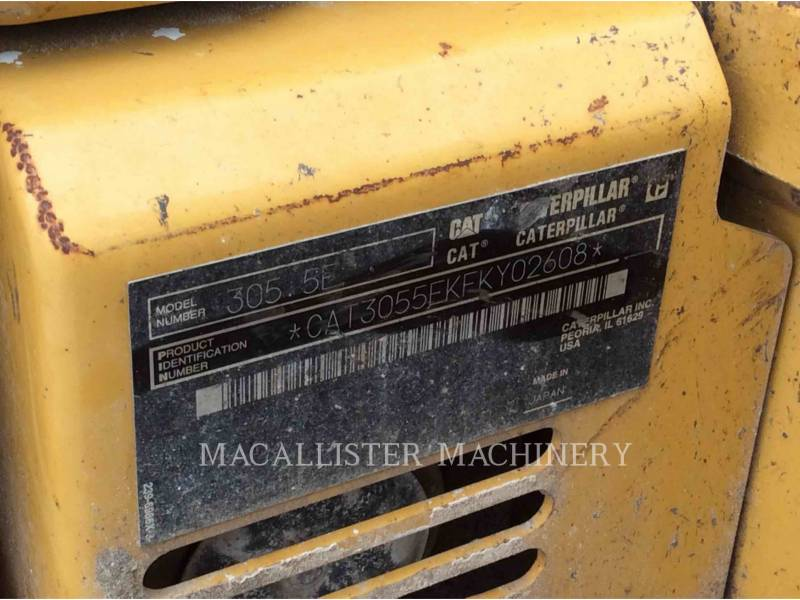 CATERPILLAR PELLES SUR CHAINES 305.5E equipment  photo 5
