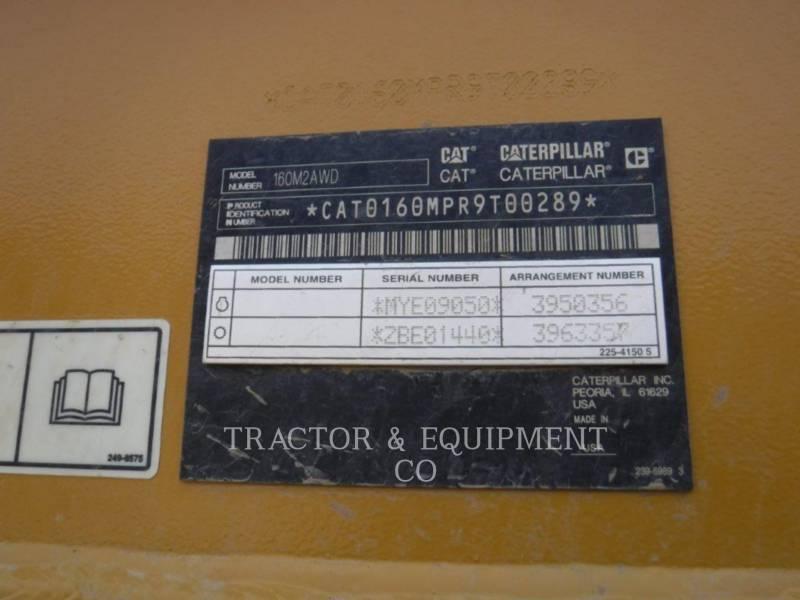 CATERPILLAR MOTOR GRADERS 160M2AWD equipment  photo 2