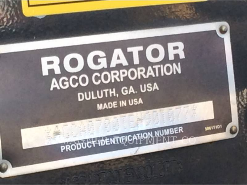 AG-CHEM PULVERIZADOR RG700 equipment  photo 5