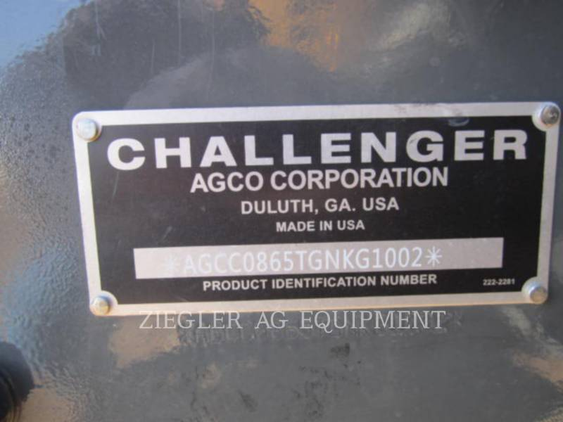 AGCO-CHALLENGER AG TRACTORS MT865E equipment  photo 2