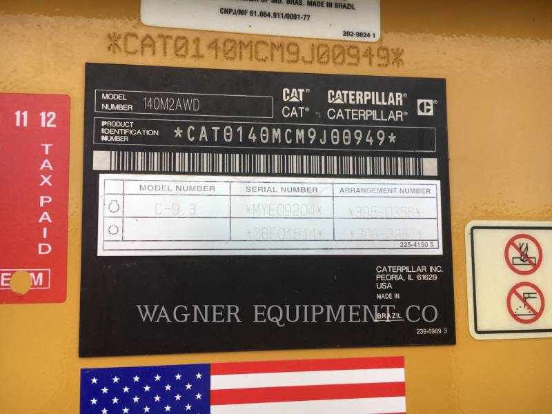 Caterpillar AUTOGREDERE 140M2 AWD equipment  photo 5