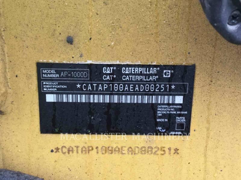 CATERPILLAR SCHWARZDECKENFERTIGER AP-1000D equipment  photo 5