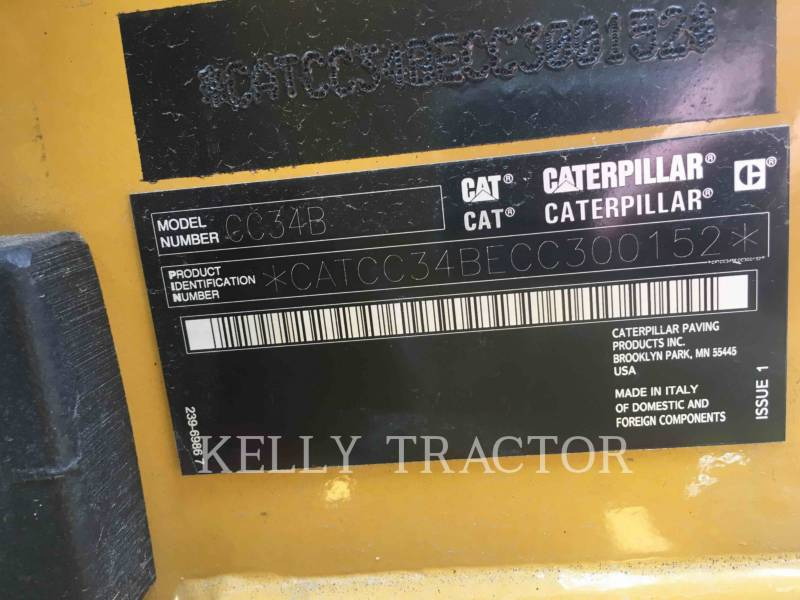 CATERPILLAR COMPACTEURS MIXTES CC34B equipment  photo 14