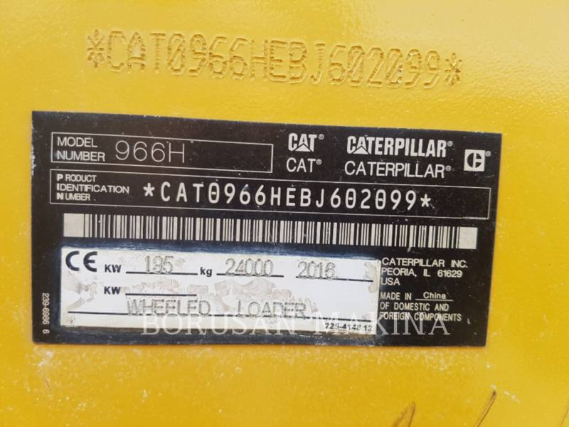 CATERPILLAR RADLADER/INDUSTRIE-RADLADER 966H equipment  photo 8