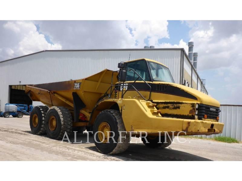 CATERPILLAR KNICKGELENKTE MULDENKIPPER 735 equipment  photo 1