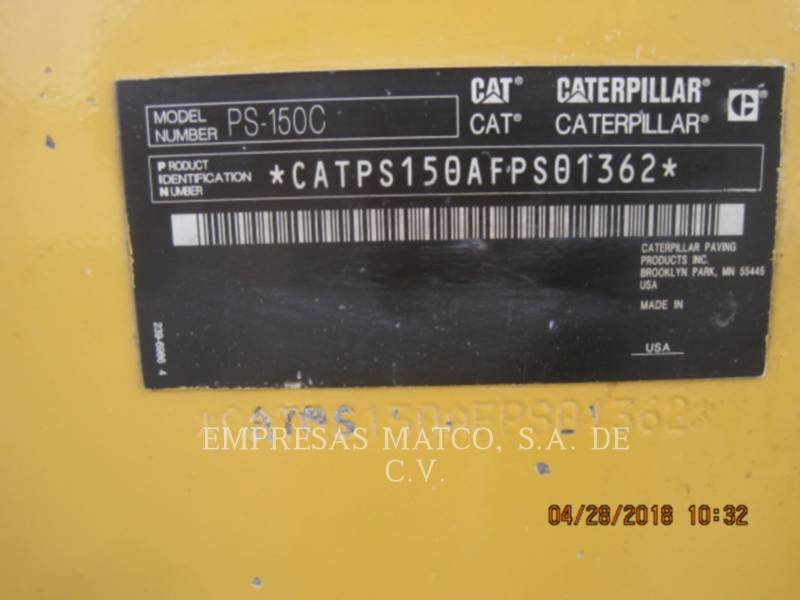 CATERPILLAR COMPATTATORI GOMMATI PNEUMATICI PS-150C equipment  photo 6