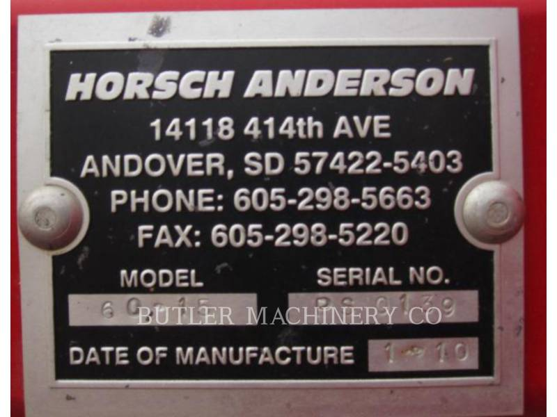HORSCH ANDERSON PLANTING EQUIPMENT PS6015 equipment  photo 10