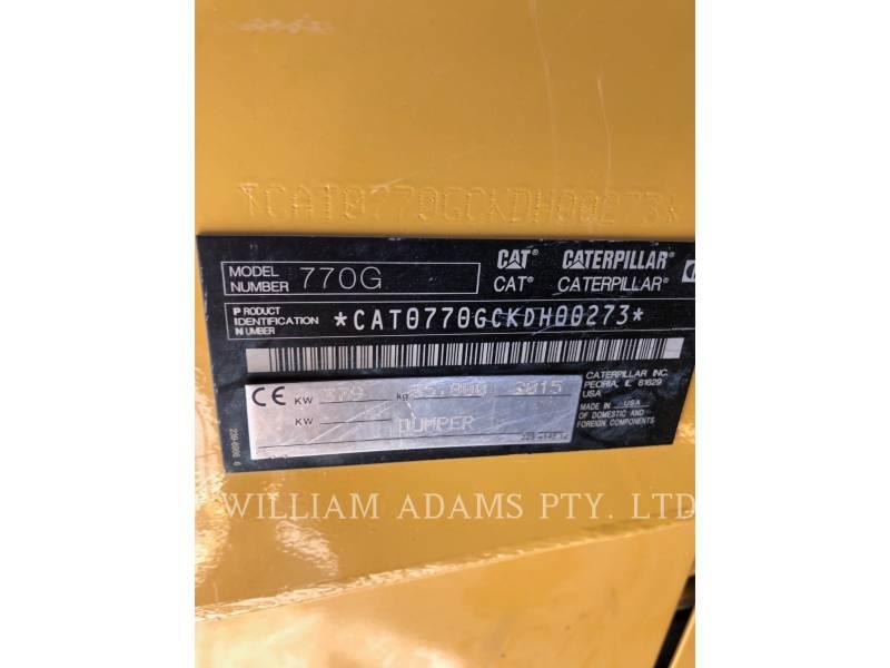 CATERPILLAR OFF HIGHWAY TRUCKS 770G equipment  photo 8