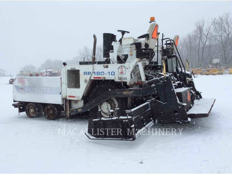 ROADTEC ASPHALT PAVERS RP180-10 equipment  photo 3