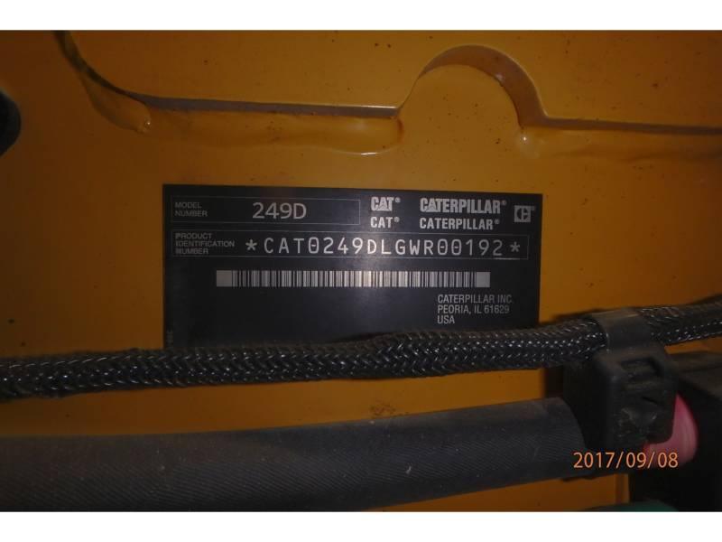 CATERPILLAR CARGADORES MULTITERRENO 249D equipment  photo 18