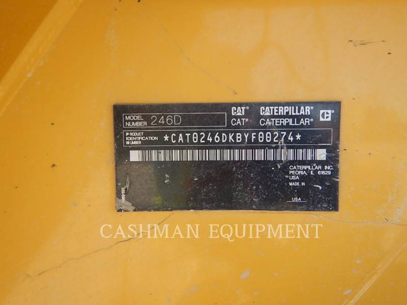Caterpillar MINIÎNCĂRCĂTOARE RIGIDE MULTIFUNCŢIONALE 246D equipment  photo 10