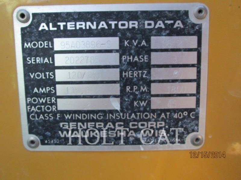 GENERAC STATIONARY - NATURAL GAS CG045 equipment  photo 3