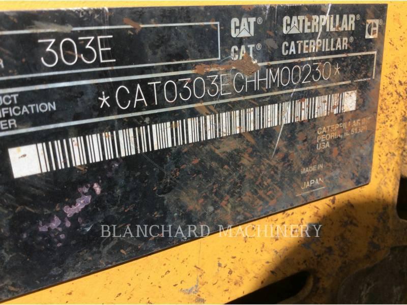 CATERPILLAR KETTEN-HYDRAULIKBAGGER 303E CR equipment  photo 8