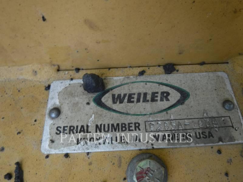 WEILER FINISSEURS P385A equipment  photo 5