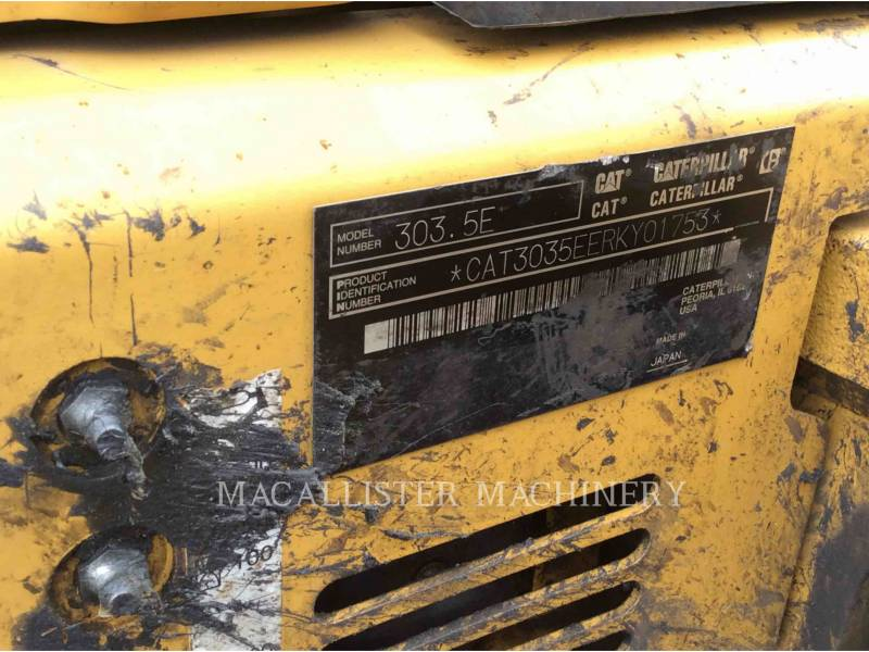 CATERPILLAR EXCAVADORAS DE CADENAS 303.5 E equipment  photo 6