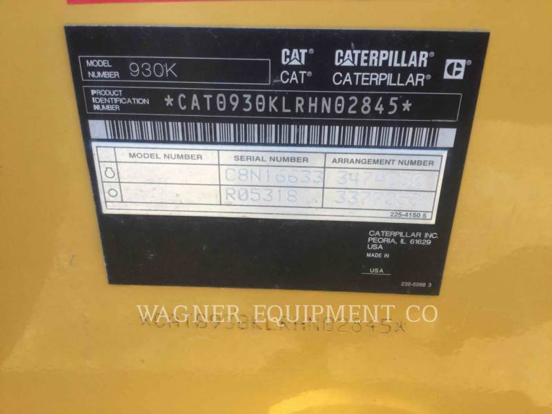 CATERPILLAR RADLADER/INDUSTRIE-RADLADER 930K FC equipment  photo 10