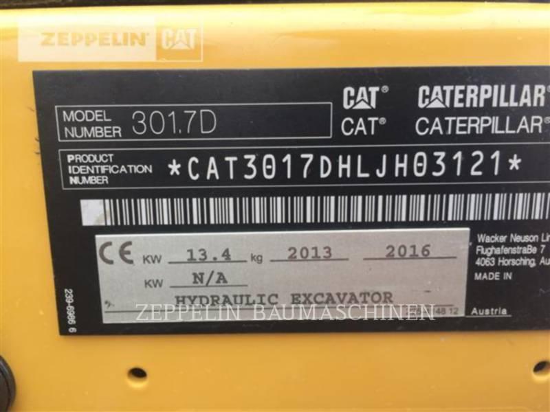 CATERPILLAR TRACK EXCAVATORS 301.7D equipment  photo 23