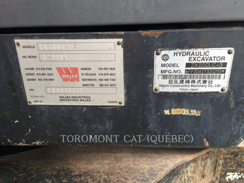 HITACHI EXCAVADORAS DE CADENAS ZX200LC3 equipment  photo 16