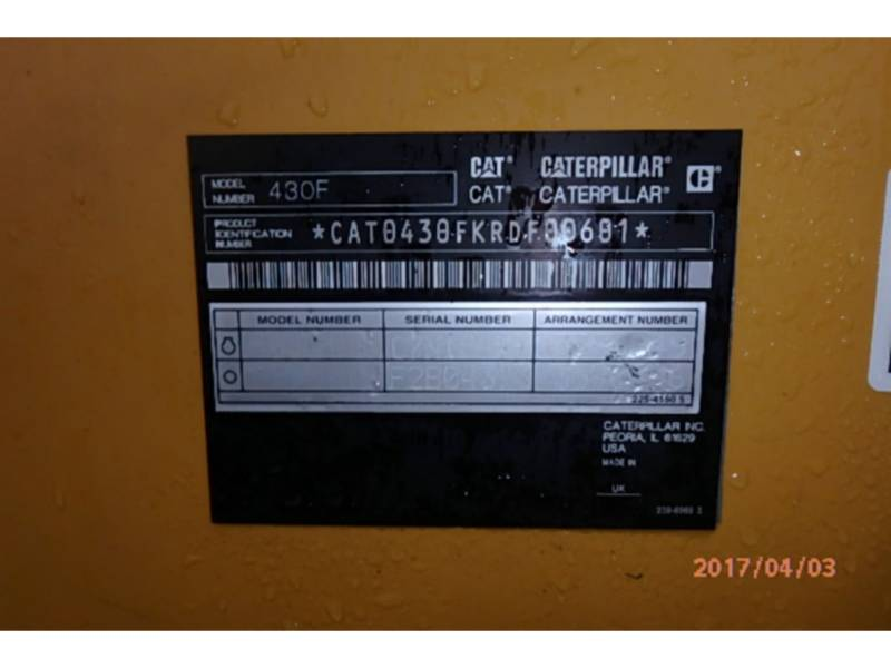 CATERPILLAR RETROEXCAVADORAS CARGADORAS 430FST equipment  photo 12