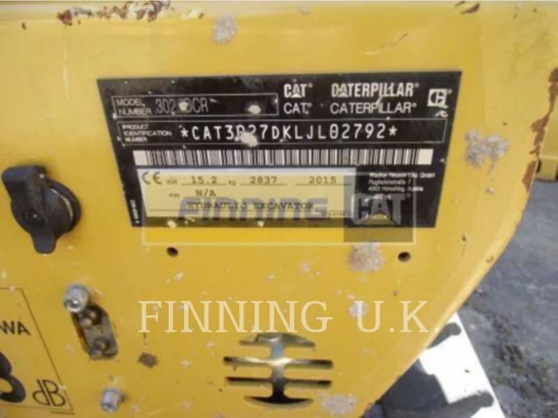 CATERPILLAR TRACK EXCAVATORS 302.7DCR equipment  photo 2